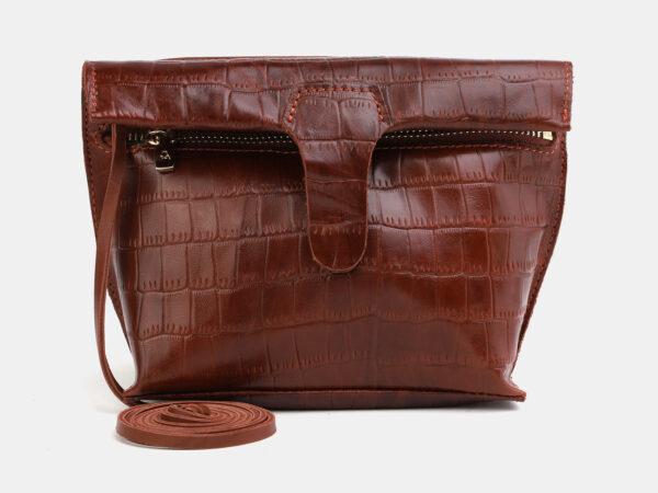 Функциональный светло-коричневый женский клатч ATS-4054