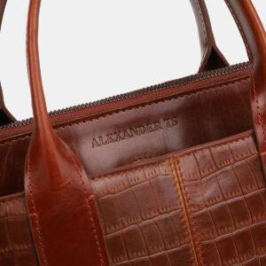 Стильная светло-коричневая женская сумка ATS-4066 232820