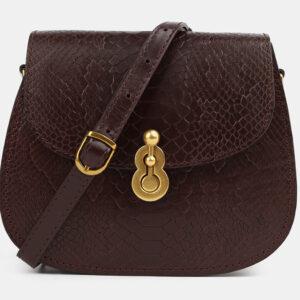 Вместительный коричневый женский клатч ATS-4074