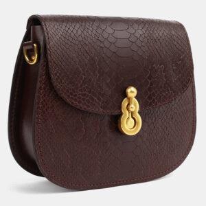 Вместительный коричневый женский клатч ATS-4074 232791
