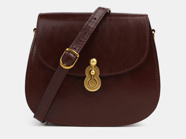 Деловой коричневый женский клатч ATS-4075