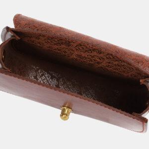 Стильный светло-коричневый женский клатч ATS-4073 232798