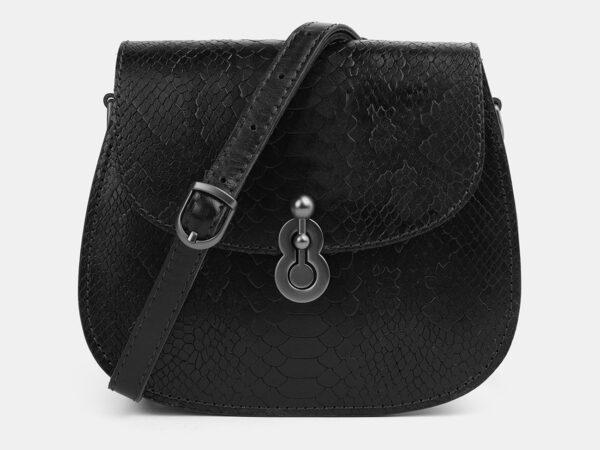 Кожаный черный женский клатч ATS-4076
