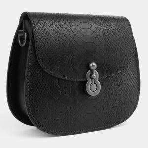 Кожаный черный женский клатч ATS-4076 232781