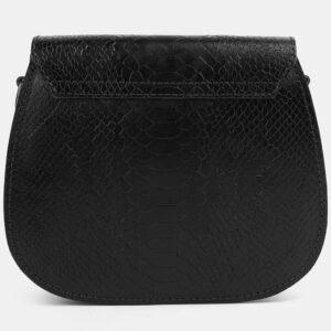 Кожаный черный женский клатч ATS-4076 232782