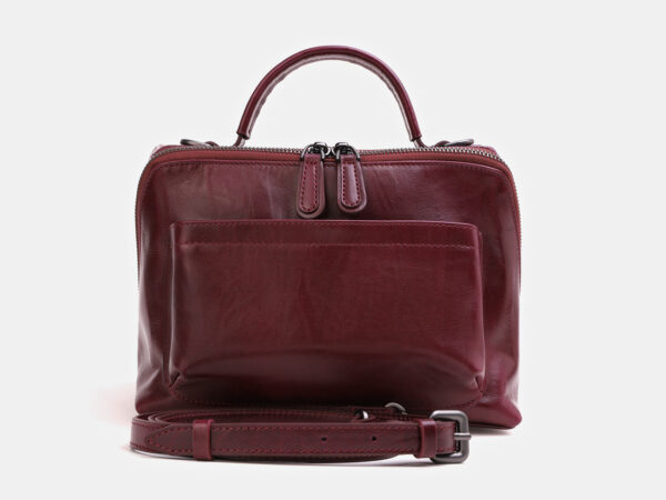 Вместительная бордовая женская сумка ATS-3843