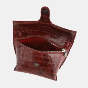 Стильный бордовый женский клатч ATS-4089 232884