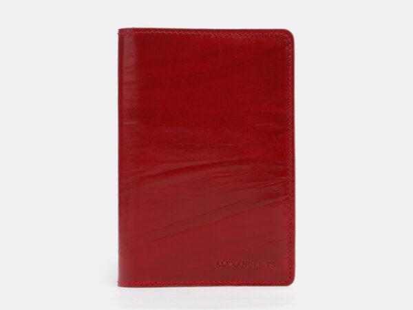 Кожаная красная обложка для паспорта ATS-2542