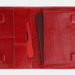 Кожаная красная обложка для паспорта ATS-2542 233007