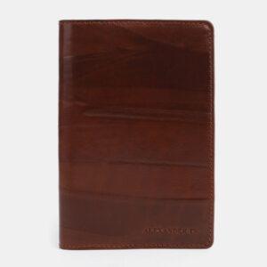 Кожаная светло-коричневая обложка для паспорта ATS-1704