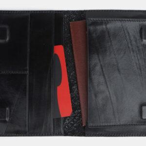 Солидная черная обложка для паспорта ATS-1703 233032