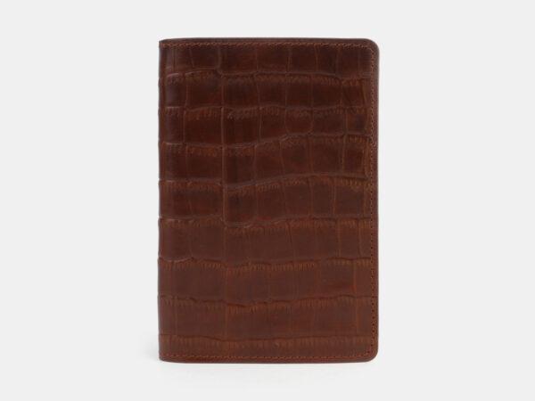 Удобная светло-коричневая обложка для паспорта ATS-3303