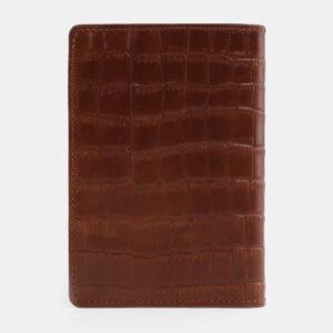 Удобная светло-коричневая обложка для паспорта ATS-3303 232984
