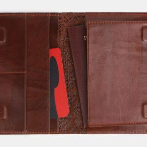 Удобная светло-коричневая обложка для паспорта ATS-3303 232983