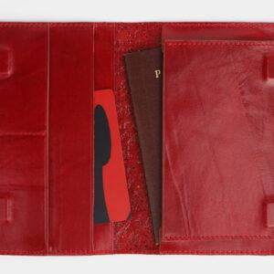 Модная красная обложка для паспорта ATS-4095 232854