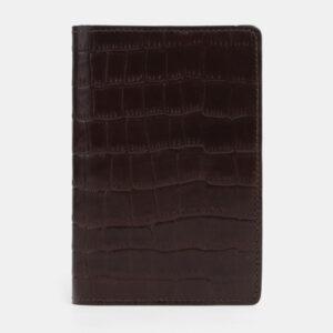 Модная коричневая обложка для паспорта ATS-4094