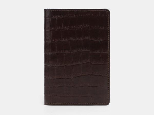 Удобная коричневая обложка для паспорта ATS-4094