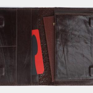 Удобная коричневая обложка для паспорта ATS-4094 232858