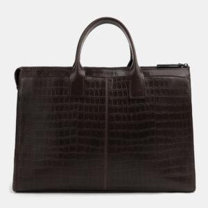 Функциональная коричневая женская сумка ATS-4105