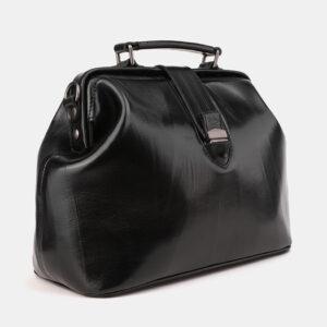 Кожаная черная женская сумка ATS-3913 236351