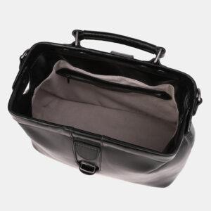 Кожаная черная женская сумка ATS-3913 236353