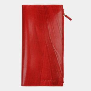 Кожаный красный портмоне ATS-1362