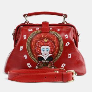 Стильная красная сумка с росписью ATS-4099