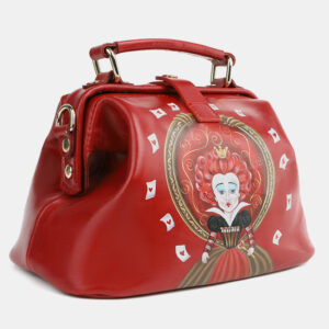 Функциональная красная сумка с росписью ATS-4099 236301