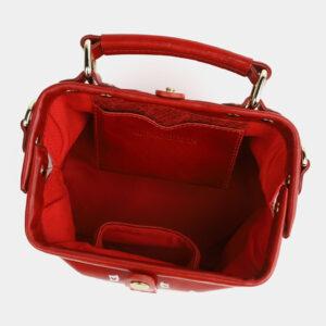 Функциональная красная сумка с росписью ATS-4099 236303