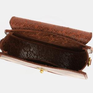 Вместительный светло-коричневый клатч с росписью ATS-4100 236298