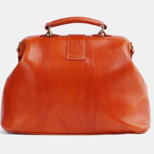 Удобная оранжевая сумка с росписью ATS-4098 236307