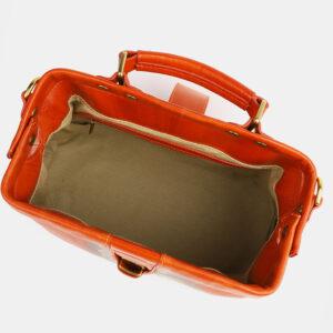 Удобная оранжевая сумка с росписью ATS-4098 236308
