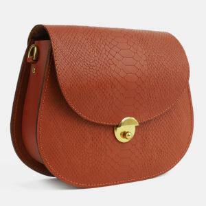Уникальный темно-оранжевый женский клатч ATS-4113 236237