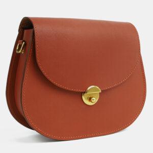 Удобный темно-оранжевый женский клатч ATS-4116 236222