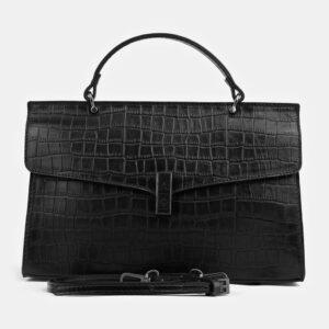 Солидная черная женская сумка ATS-4101