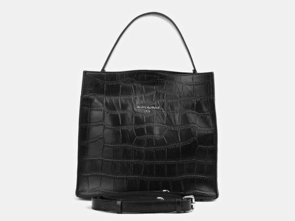 Стильная черная женская сумка ATS-4097