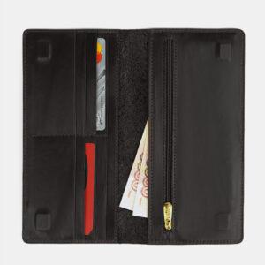Кожаный черный портмоне ATS-4108 236259