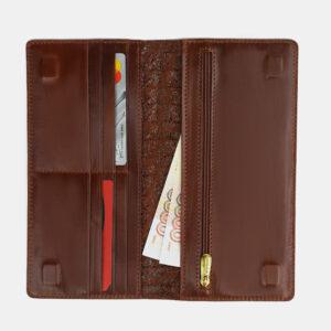 Кожаный светло-коричневый портмоне ATS-4110 236251