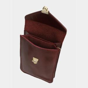 Стильный бордовый женский клатч ATS-4120 236214
