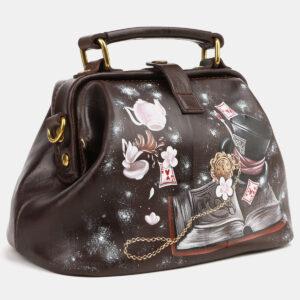 Деловая коричневая сумка с росписью ATS-4124 236499