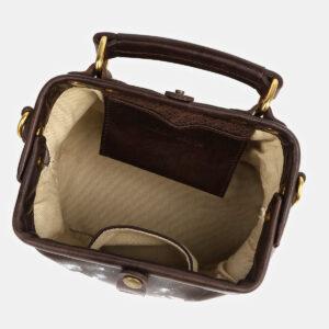 Деловая коричневая сумка с росписью ATS-4124 236501
