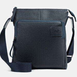 Кожаный синий мужской планшет ATS-217