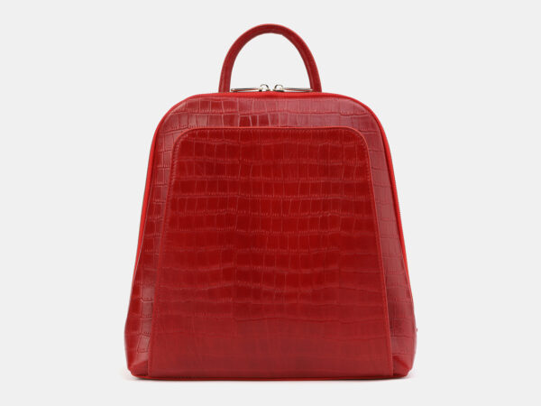 Функциональный красный рюкзак кожаный ATS-4029