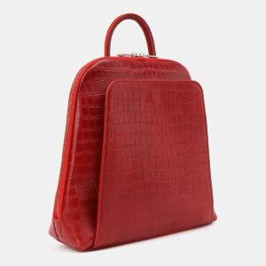 Функциональный красный рюкзак кожаный ATS-4029 232942
