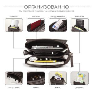 Неповторимая коричневая мужская сумка BRL-19864 234553