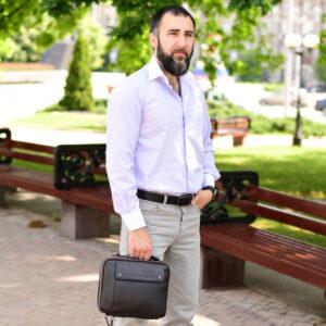 Удобная коричневая мужская сумка BRL-19878 234754
