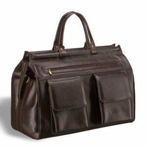 Кожаный коричневый саквояж BRL-7222