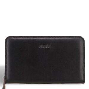 Стильный черный мужской кожаный кошелек BRL-7600 233790
