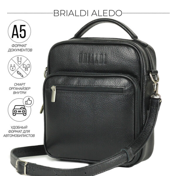 Уникальная черная мужская сумка для документов BRL-12934