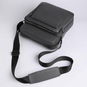 Кожаная серая мужская сумка через плечо FBR-1720 235852